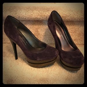 Jessica Simpson Stiletto Stacked Heels. Size 6.5